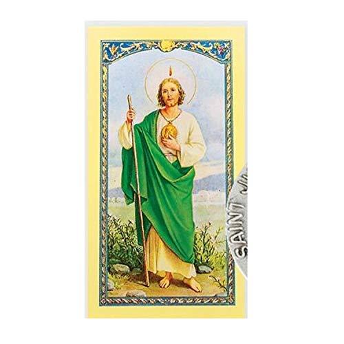 Gifts by Lulee, LLC San Judas Tadeo Patron de lo Imposible Alfiler de Solapa con Oracion para Obtener Empleo Importada de Italia y Bendecida por Su Santidad (Oracion A San Judas Tadeo Para El Trabajo)