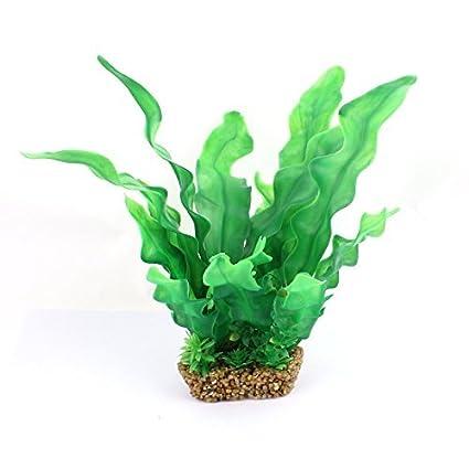 eDealMax hoja de plástico decoración acuario Planta de agua Artificial DE 23 cm Alto Verde