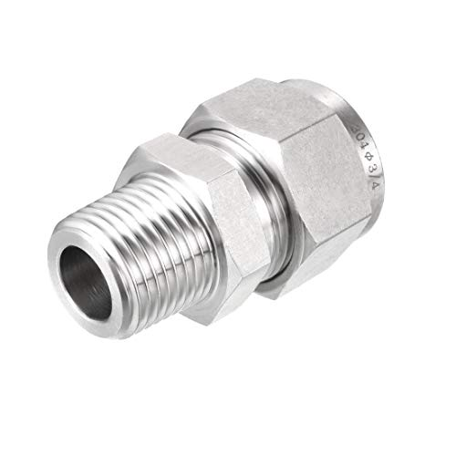 uxcell Compression Tube Fitting, Connector Adapter, 1/2