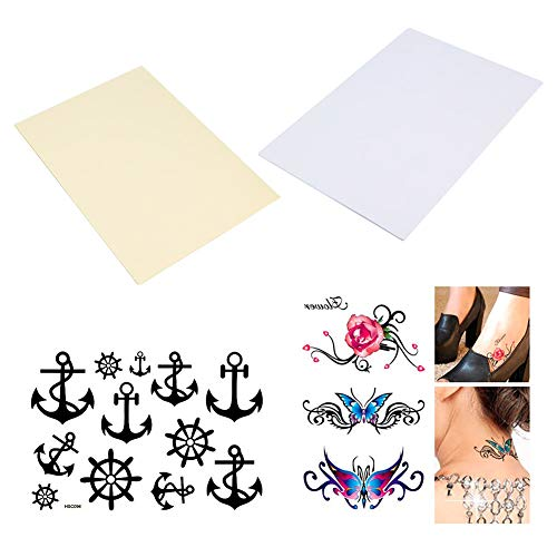 BENECREAT 20 Sheets (10 Pack) DIY A4 Temporary Tattoo Transfer Paper Printable Customized Halloween Tattoos -