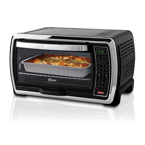 (Oster Large Digital Countertop Convection Toaster Oven, 6 Slice, Black/Polished Stainless (TSSTTVMNDG-SHP-2))