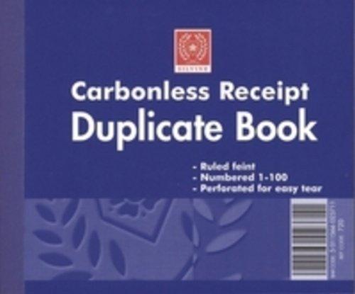 Silvine 720 Carbonless Duplicate Receipt Book 4x5in PK12