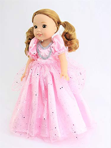 Pink Sparkle Princess Dress with Gloves-Fits 14