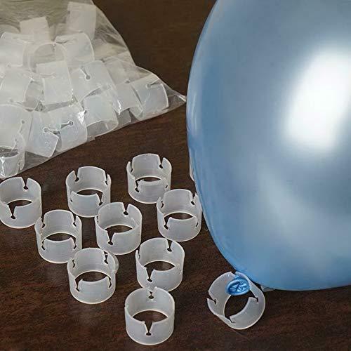 Mikash バルーンアーチクリップ プラスチック製 ウェディングパーティーデコレーション用品 モデルWDDNGDCRTN 1573 1.25インチ 50 pcs ホワイト childweddingdecoration-1821 B07RH9B31T  50 pcs