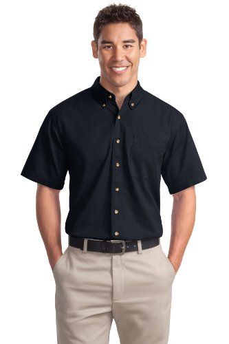 Port Authority Men's Short Sleeve Twill Shirt L Classic Navy