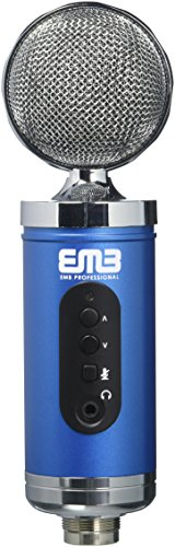 EMB EMC960 Professional High-Performance Multi-Pattern Large Diaphragm Condenser Project Studio Microphone (Pro Dual Diaphragm Studio Condenser)