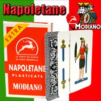 Napoletane 97/25 Modiano Regional Italian Playing Cards. Authentic Italian Deck. (Modiano Plastic Italian 100%)