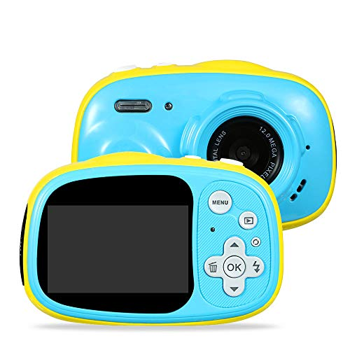 "Kids Camera OUKITEL Q1 Digital Video Camcorder Action Camera Rechargeable with 8G SD Card 2.0"" for 3-12 Year Old Boys and Girls Birthday Festival Gift"