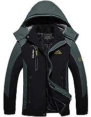 BIYLACLESEN Men's Winter Coats Fleece Lined Ski Jacket Warm Windbreaker Parka