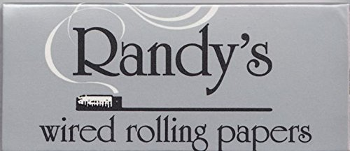 Randy's Unbleached Cigarette Rolling Papers 1.25 - 24 count,Pack of 25