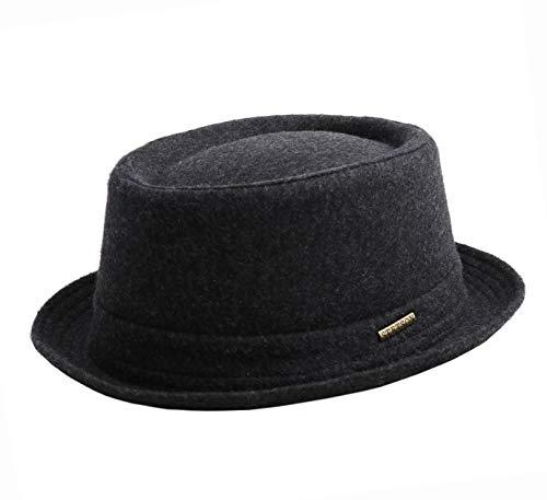 Stetson Men's Wool Pork Pie Hat (Anthracite, 61) (Mens Pork Pie Hat)