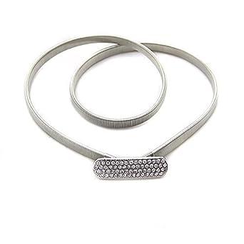 Femmes ceinture métal - couleur argent - Fabriqués à partir de fer -  S etire. Trimming Shop 092f8ae7e01