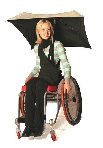 Umbrella Buddies - RehaDesign Brella Buddy Wheelchair Umbrella Holder Plus Square-A-Sol Umbrella
