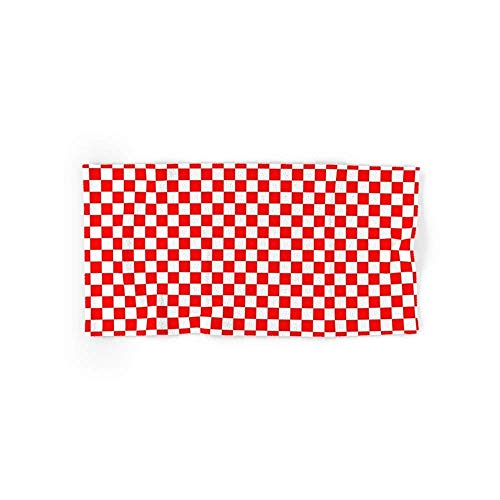 Mallory Checker (Red/White) 4 (2 Hand Towels, 2 Bath Towels)
