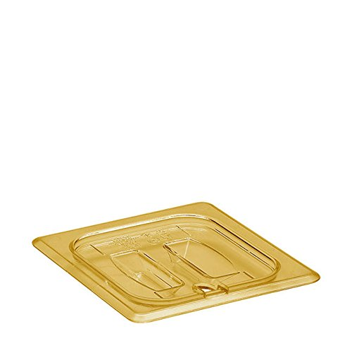 Cambro Manufacturing 60HPCHN150 H-Pan Cover Sixth Size Notched with Handle Amber (1 EACH) ()