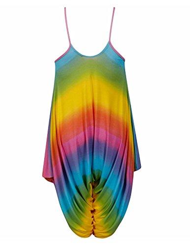 Color Sans Multi Imprimé 21fashion Femme Combinaison Manche ZqYHaw