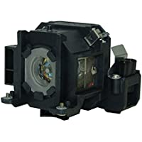 AuraBeam Professional Epson ELPLP38 Projector Replacement Lamp with Housing (Powered by Osram)