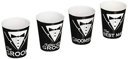 Forum Novelties FRM-74277 Bachelor Shot Glasses-Asst. Pack of 6 Party Supplies, Standard, Multi-color