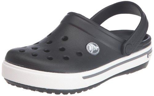 Crocs Crocband II.5 Clog (Toddler/Little Kid),Black/Charcoal,2 M US Little Kid