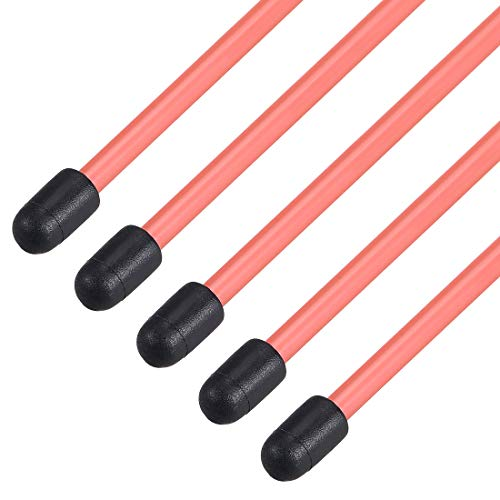 uxcell RC Antenna Tube with Cap for RC Boat, Plastic Red 5pcs