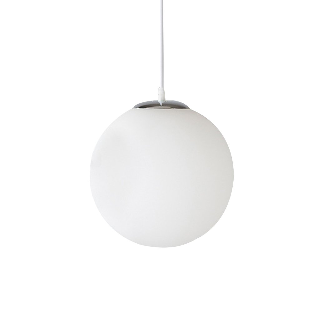 ledmomo Large HangingガラスグローブペンダントライトホワイトガラスHanging器具ダイニングルームキッチンPorch Foyersまたはレストラン(15 cm) B07D7XQ4QC