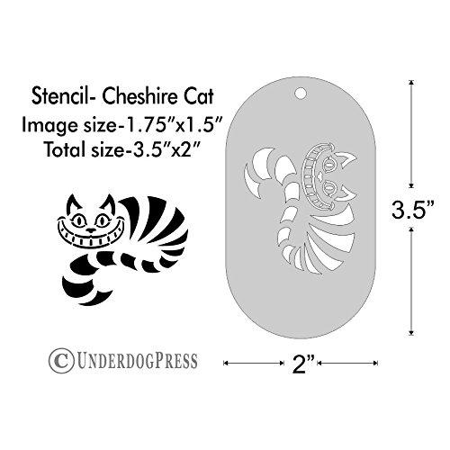 Stencil - Cheshire Cat, Medium (Cheshire Cat Face Tattoo)