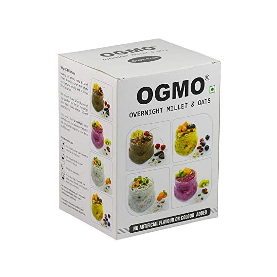 OGMO Overnight Millet and Oats Breakfast Mix , Combo Pack of 4