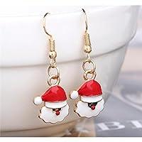 Leng QL Beautiful Women's Christmas Earrings Santa Earrings Jewelry Accessories