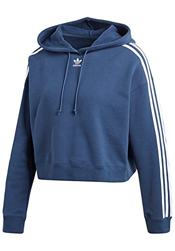 blu Hoodie adidas Donna Cropped Felpa IT5xCO