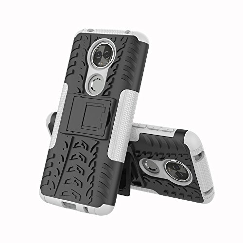 - NOMO Moto E5 Plus Case,2018 Moto E5 Supra Case with Kickstand,Hybrid Rugged Dual Layer Armor Hard PC Back TPU Bumper Shock Absorbing Phone Protective Case Cover for Motorola E5 Plus / E5 Supra,White