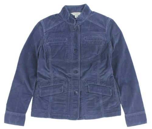 L.L. Bean Women's Kennebec Corduroy Cargo Jacket Small Blue