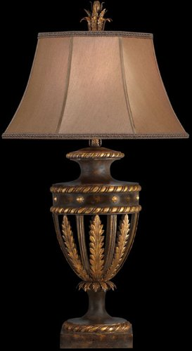 Castile 3 Light (Fine Art Lamps 229710, Castile Tall 3 Way Table Lamp, 1 Light, 150 Total Watts, Gold Leaf)