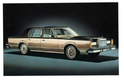 Amazon Com 1980 Lincoln Continental Advertising Postcard Ford