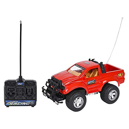 "11.25"" Dino Remote Racing Car - 1 Piece of 4x4 Plastic Red Hot Wheels Pick-up Safari Car- Dinosaur-Themed Monster Truck- Educational Gift Idea for Babies, Toddlers, Preschoolers and Kids"
