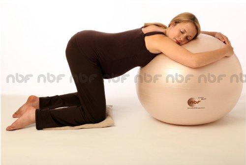 -[ Natural Birth & Fitness Birthing Ball & Pump - NBF Anti-Burst Birth Ball with Instructio