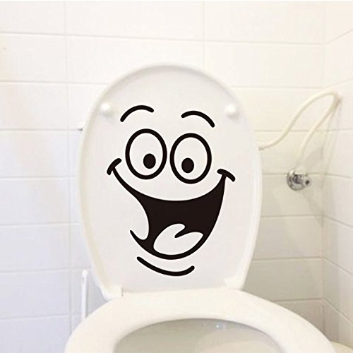 Big Mouth Smile Toilet Stickers Wall Decorations DIY Vinyl Adhesives Home Decal Art Waterproof Posters Paper (Cute Halloween Wallpaper Iphone)