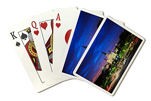 New Orleans, Louisiana - Saint Louis Cathedral and Jackson Square - Photography A-95714 95714 (Playing Card Deck - 52 Card Poker Size with Jokers)