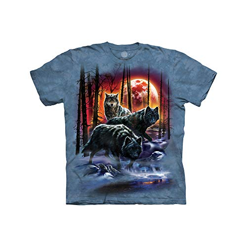The Mountain Kids' Big MyMountain Fire and Ice Wolves Apparel-Cornflower Blue, Medium