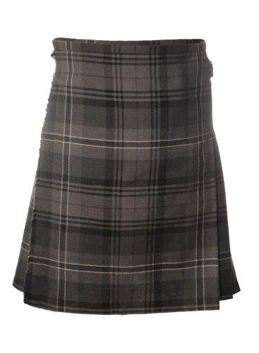 Woven Kilt (Boys Childrens Scottish Hamilton Grey Tartan Kilt Age: 9-10 Years)