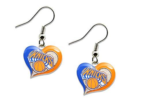 Knicks York Nba New Bracelet - NBA New York Knicks Swirl Heart Earrings