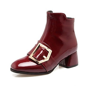 RTRY Women'S Shoes Patent Leather Customized Materials Fall Winter Riding Boots Fashion Boots Boots Chunky Heel Round Toe Booties/Ankle Boots US3.5 / EU33 / UK1.5 / CN32 9Kuv1