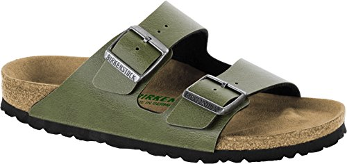 Birkenstock Arizona Vegan Sandal - Women's Olive Pull Up Birko Flor, 38.0 ()