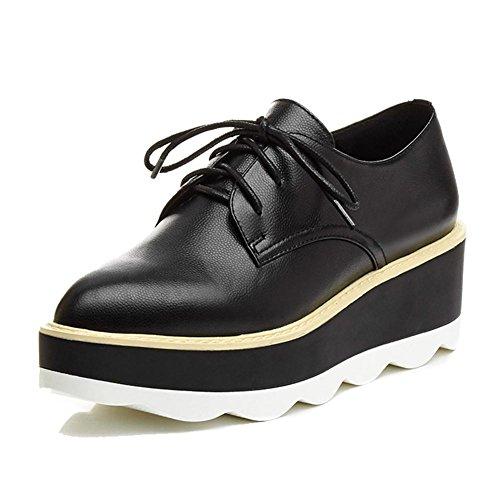 KJJDE Moda Mujeres con Zapatos De Black A0612 WSXY Salón de Serie Plataforma Cerrada rrC46x8wq