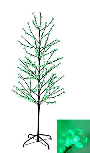 NorthLight 6 ft. Enchanted Garden LED Lighted Cherry Blossom Flower Tree - Green Lights