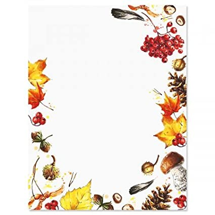 amazon com splash of harvest fall letter papers fall stationery