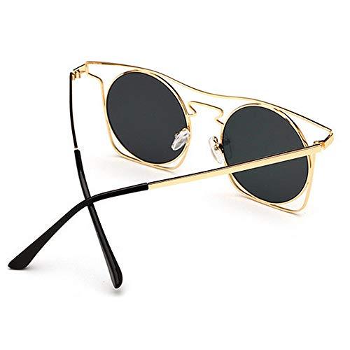 Gu Conducir Sol UV400 Peggy Playa Gafas Protección Vacaciones C3 Coloreada Lente con Color Metal Montura Verano de la C5 de Unisex para con de en dxqZtqFv