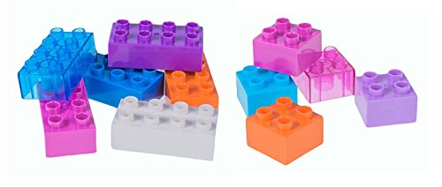 Strictly Briks Classic Big Bricks   100% Compatible with All Major Brands   2 Large Block Sizes for Ages 3+ Tight Fit Building Bricks in 12 Rainbow Colors   204 Pieces