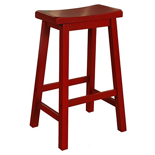 (Powell's Furniture 286-431 Barstool, Red)