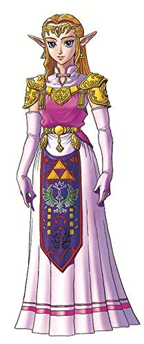 - WiggleWalls 9 Inch Princess Zelda Decal Legend of Repositionable Peel Self Stick Vinyl Wall Sticker Art Home Decor Kids Room 3 1/2 inches Wide by 8 1/2 inches Tall