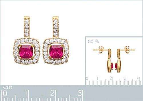 ISADY - Ilénia Gold - Boucles d'oreille - Plaqué or jaune 18K - Pendants - Oxyde de zirconium - Vintage
